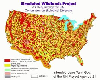 Agenda 21 Wildlands: Forced relocating into controllable areas. 'If you live there, you won't.'