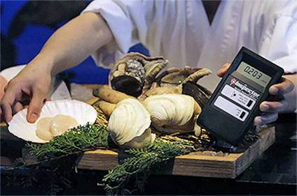 Geiger Counter Detects Radiation in Japan Seafood