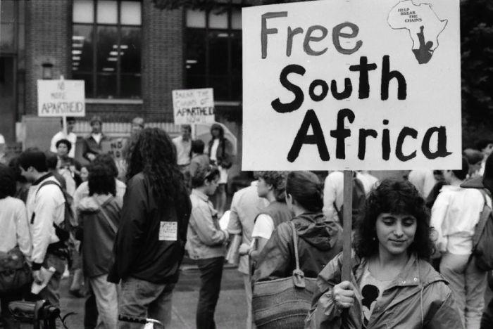 плакат, free south africa