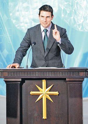Самый известный саентолог в мире Том Круз произносит речь на открытии новой церкви сайентологов в Мадриде