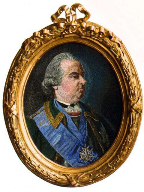 Мозаичная мастерская М.В. Ломоносова. Портрет графа П.И. Шувалова, 1758 г.