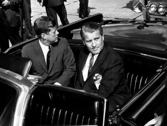 Вернер фон Браун и президент Кеннеди