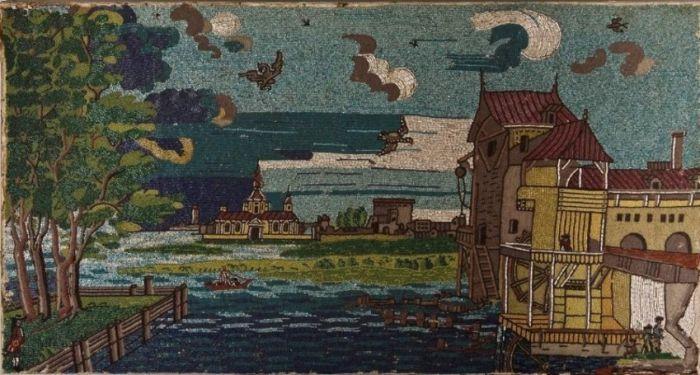 Бисерное пано с видом на Усть-Рудницкую фабрику