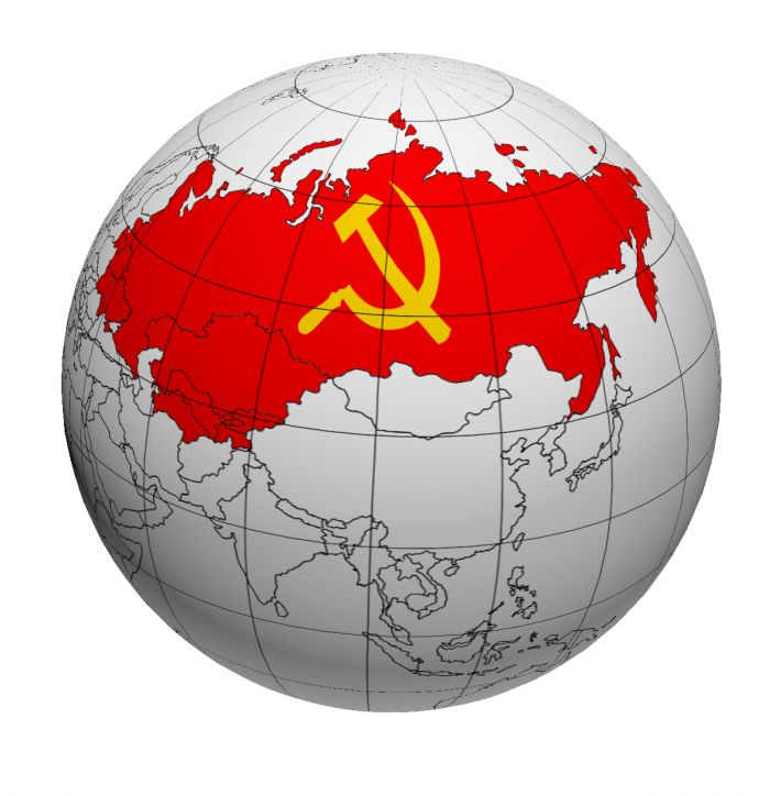 СССР на глобусе