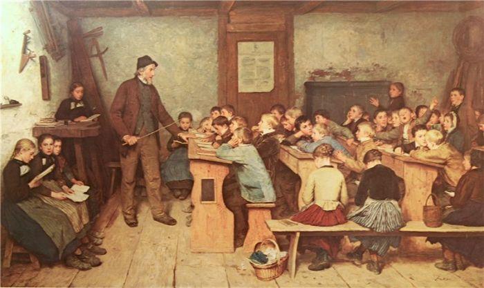 «Сельская школа». Альбер Анкер, швейцарский художник, 1831 — 1910
