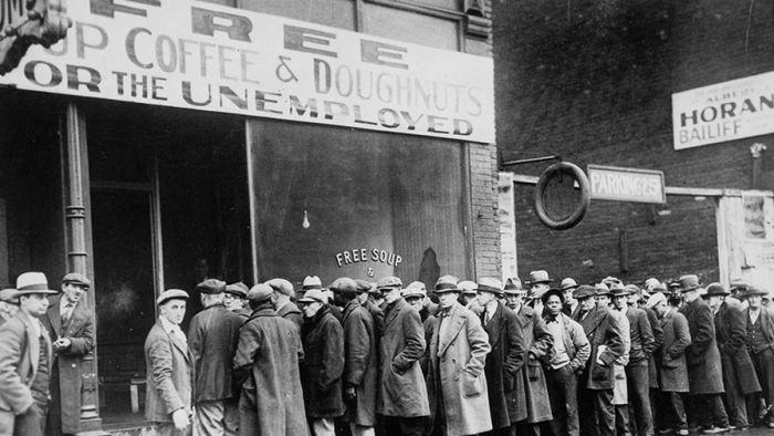 Фотографии, которые передают атмосферу краха Уолл-стрит и последующей Великой депрессии