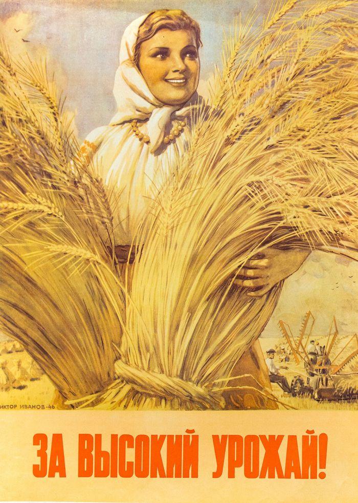 Плакат «За высокий урожай»